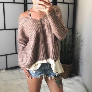 🆕 BOBY Heavy Knit V Neck Sweater